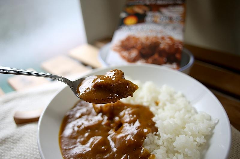 お肉がゴロっと白銀亭の大阪あまからビーフカレー